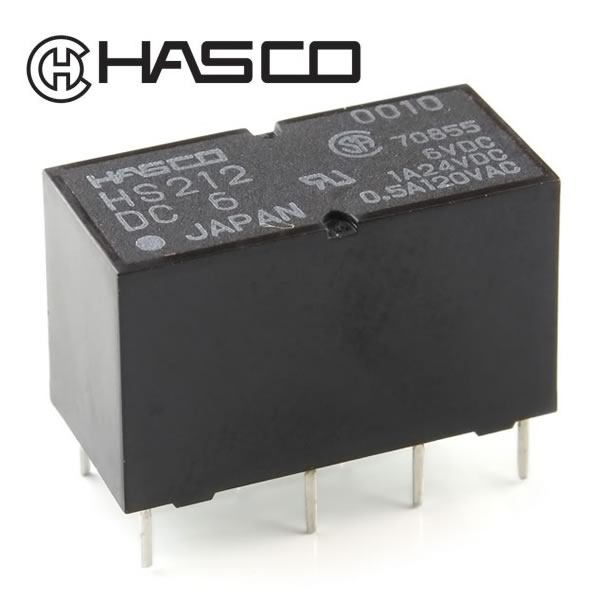 Hasco HS212 Sensitive Type DPDT 6VDC Relay