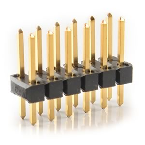 (Pkg 2) Dual 6 Pin Male Header (12 Pins)