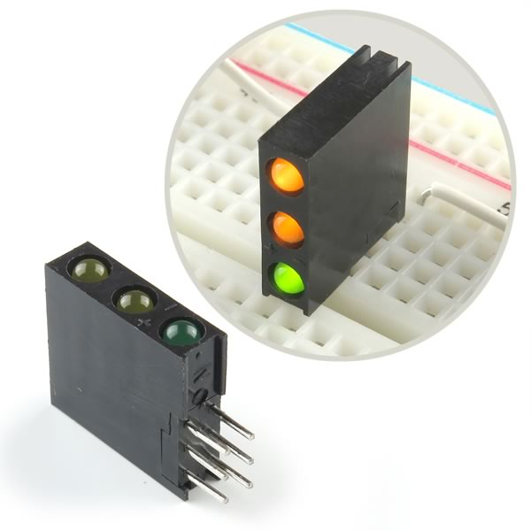 (Pkg 20) 3 LED Green/Yellow Indicator