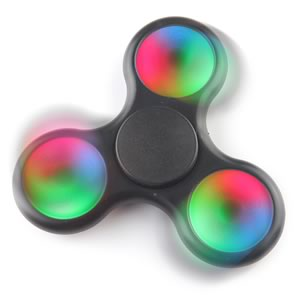 Latest Version 3-Mode Rainbow LED Fidget Spinner