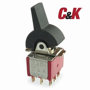 CLEARANCE! (Pkg 2) C&K 3PDT Paddle Toggle Switch