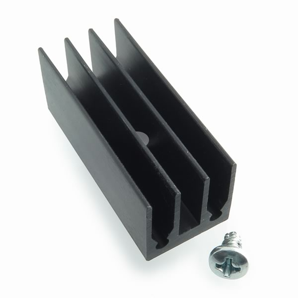 (Pkg 3) Large TO-220 Black Anodized Heatsink THM 6391