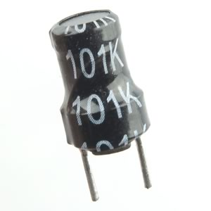 (Pkg 10) Small Ferrite Core 100uH Inductor