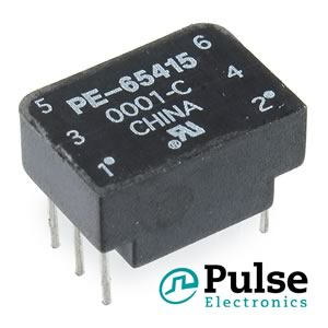Pulse PE-65415 Miniature 1CT:2CT Transformer