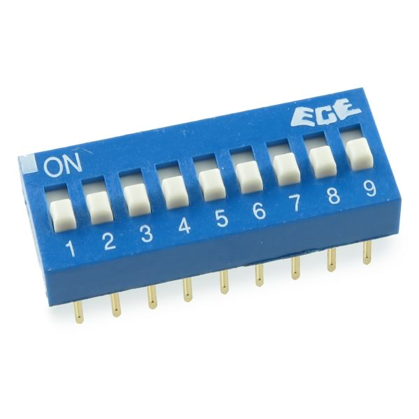 (Pkg 21) Excel Cell Electronics 9 Position Slide Dip Switch