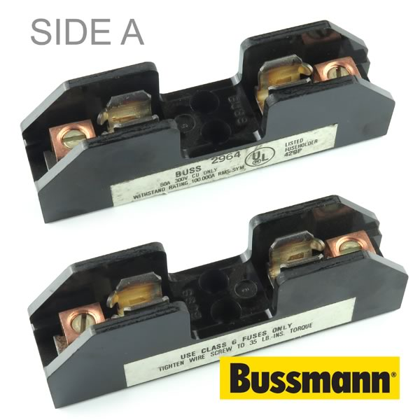 Buss 1 Pole 10 to 14 AWG 300V 60Amp Fuse Block