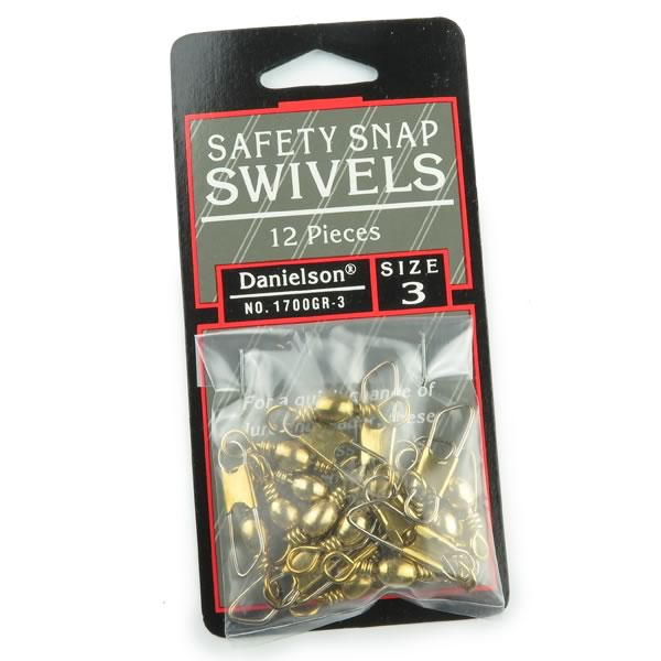(Pkg 12) Danielson Size 3 Safety Snap Swivels