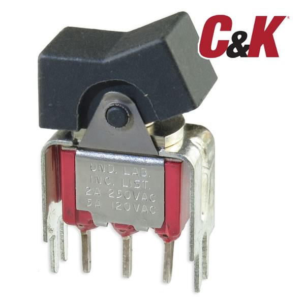(Pkg 10) C&K U11 Board Mount Rocker Switch