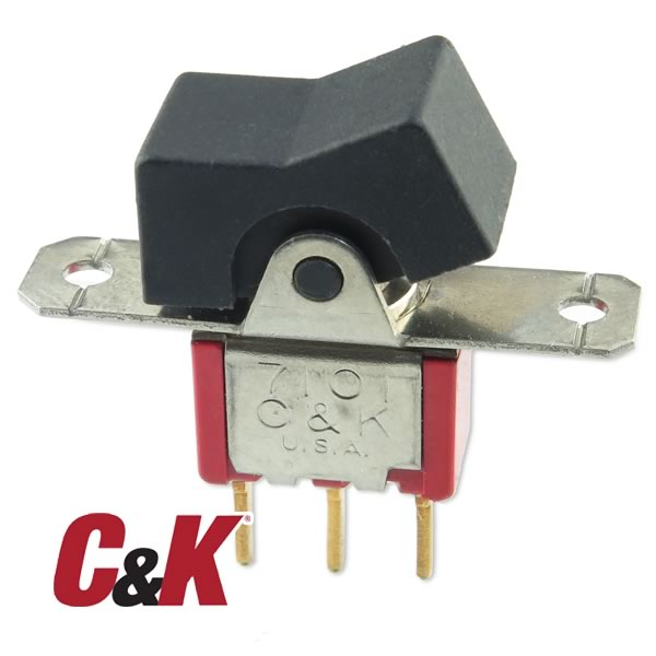 (Pkg 4) C&K 7101 Panel Mount SPDT Rocker Switch