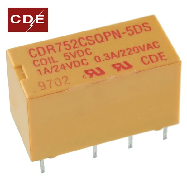 Compact 5VDC / DPDT Relay CDR752CSQPN-5DS