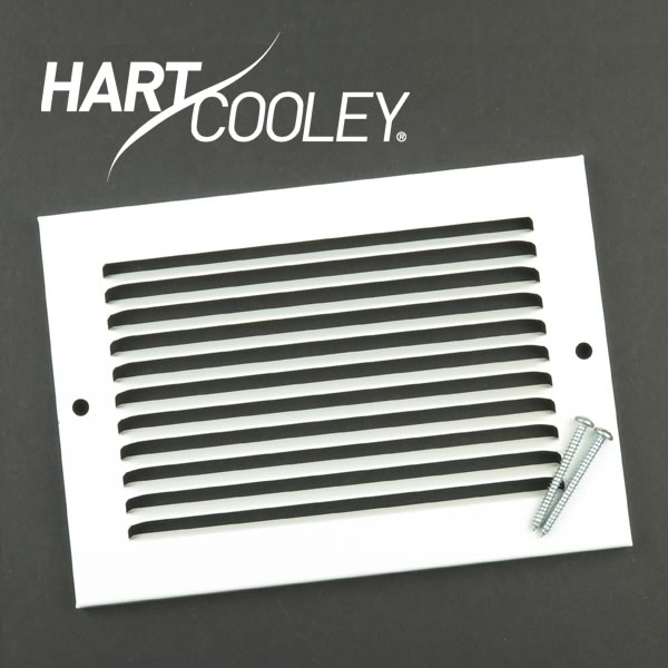 "SALE - Hart & Cooley R5501 White 6"" x 4"" Sidewall Register"