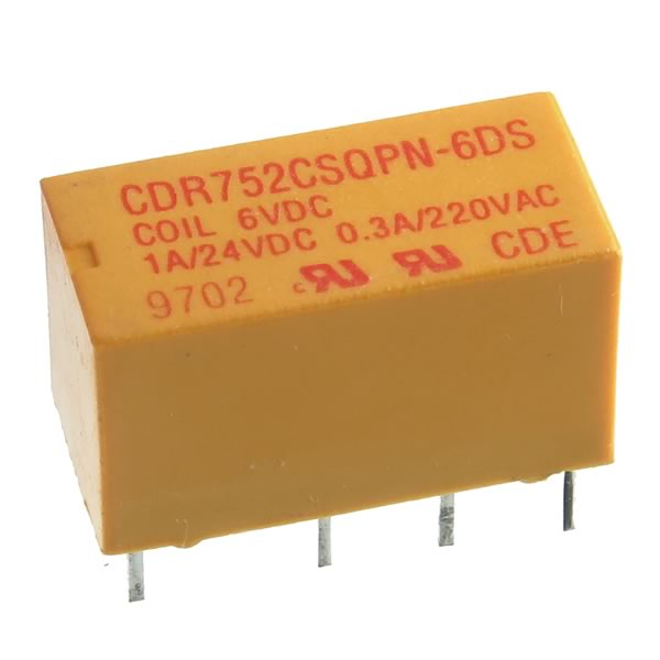 Compact 6VDC / DPDT Relay CDR752CSQPN-6DS