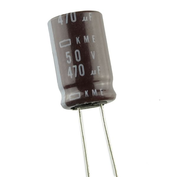 SALE - (Pkg 50) Compact 470uF 50V Radial Electrolytic Capacitor
