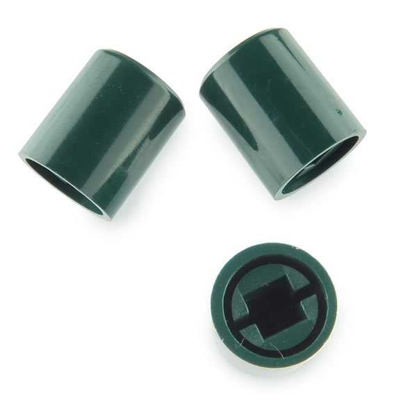 (Pkg 10) Green Plastic Caps for Switches