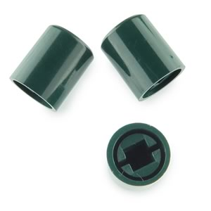(Pkg 5) Green Plastic Caps for Switches