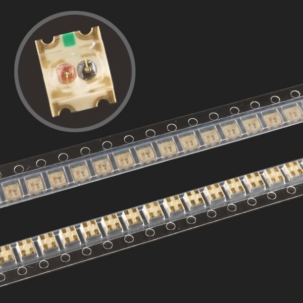 (Pkg 50) Super Bright 2 Color Tiny Red and Green SMD LED