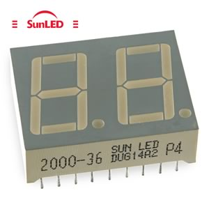 DUG14A2 Common Anode Green Dual 7 Segment Display