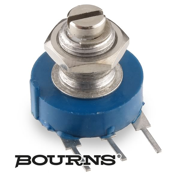 (Pkg 2) Bourns Panel Mount Linear Taper 300K Potentiometer