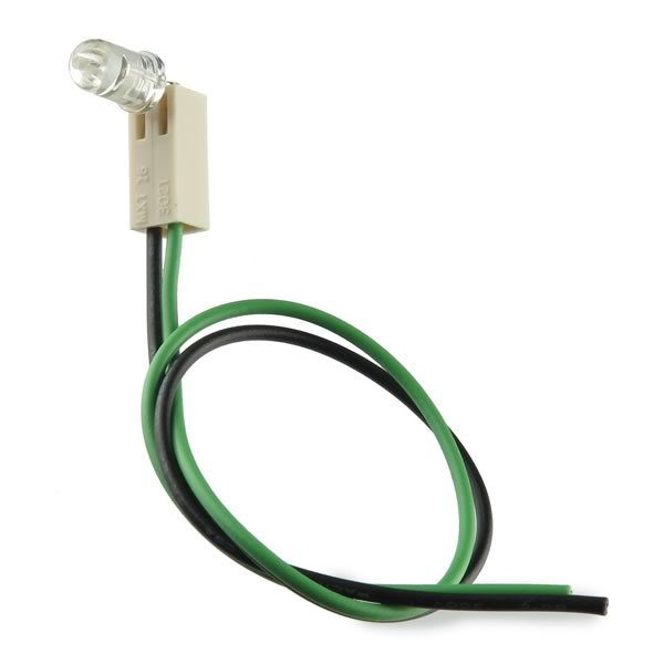 (Pkg 10) Bright Green LED With Wires