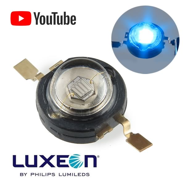 (Pkg 2) 1Watt Luxeon Blue LED LXHL-PB01