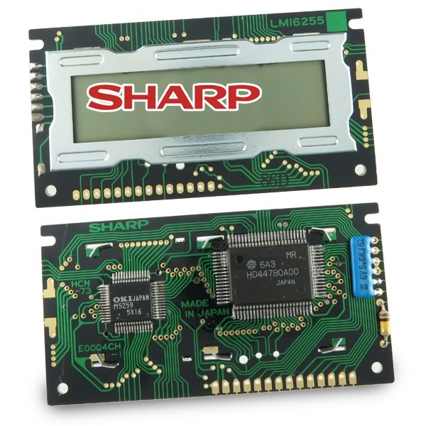 Sharp LM16255 16 Character X2 Line 5X7 Dot TN LCD Display