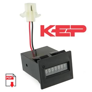 (Pkg 3) KEP E760-AP10 12VDC Impulse Counter