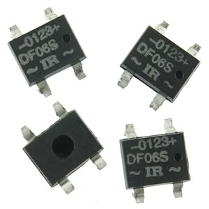 (Pkg 4) DF06 Mini SMD 600V 1Amp Bridge Rectifier