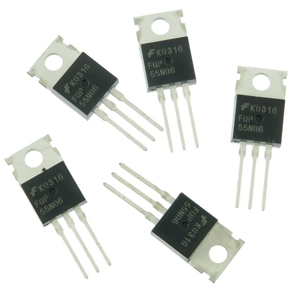 (Pkg 5) Fairchild FQP55N06 60V 55A N-Channel MOSFET