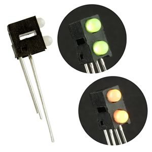 (Pkg 4) Dual Yellow/Green Bipolar T1 PCB Indicator