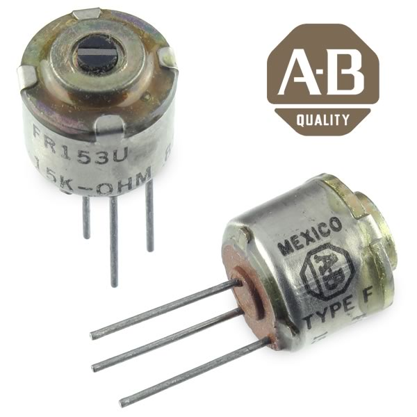 (Pkg 3) AB Type F Miniature 15K Screwdriver Adjust Potentiometer