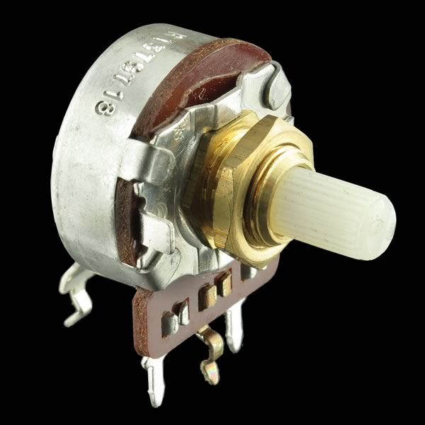 (Pkg 5) 150K Audio Taper Panel/Board Mount Potentiometer