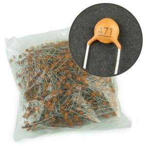 (Factory Bag of 1000) 470pF 50V Ceramic Disc Capacitor