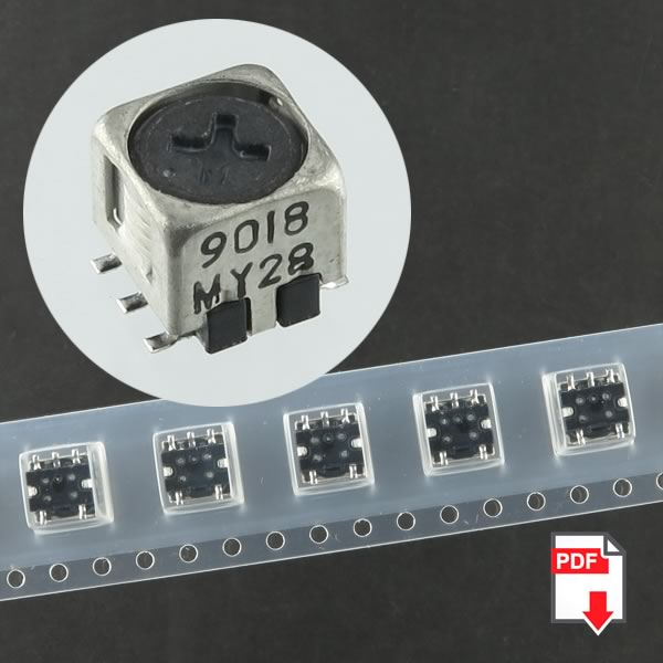 (Pkg 10) Toko SMD 5CCD Variable Inductor 1.8uH High Frequency 614BN-9018Z=P3