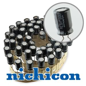(Pkg 50) Nichicon Compact 1000uF 6.3V Radial Electrolytic Capacitor