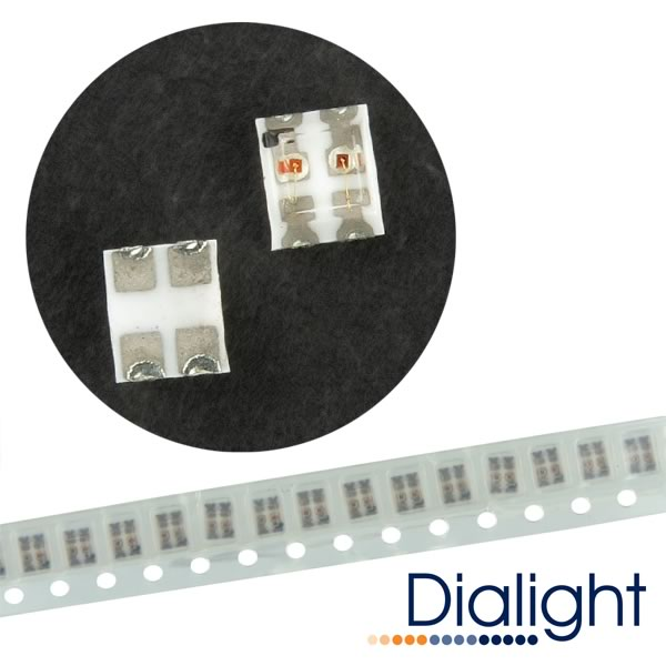 (Pkg 20) Dialight 597-7721-107 Yellow/Green Bi-Color SMD LED