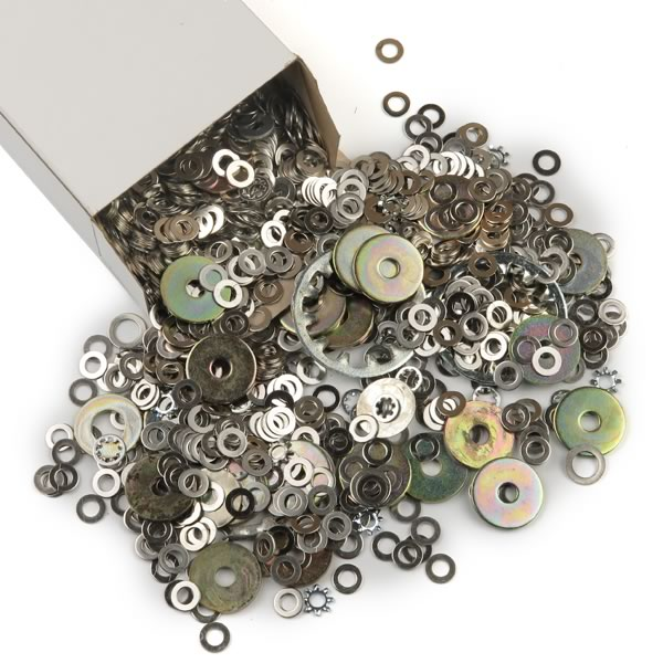 Box Of Over 2000 Metal Washers