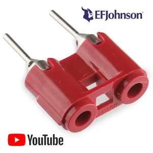 SALE - Antique Dual Pin Jack by EF Johnson