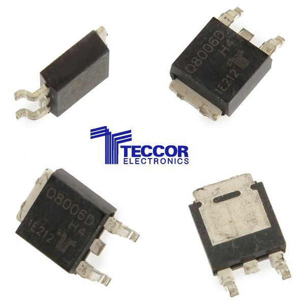 (Pkg 4) Tecor Q8006D 800V 6Amp Triac Alternistor TO-252 D-PAK