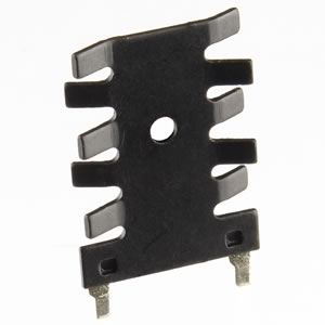 (Pkg 5) Inexpensive TO-220 Black Anodized Heat Sink