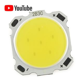 (Pkg 5) Powerful Large 3Watt Pure White 6000-6500K COB LED
