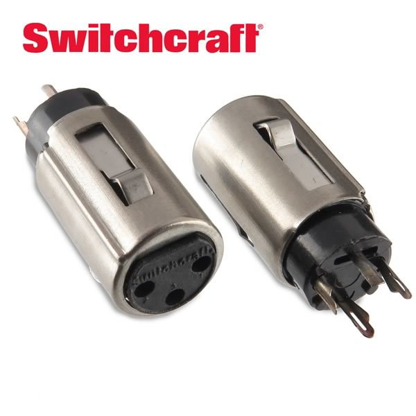 (Pkg 2) Switchcraft 5C1215 PC Mount XLR Connector