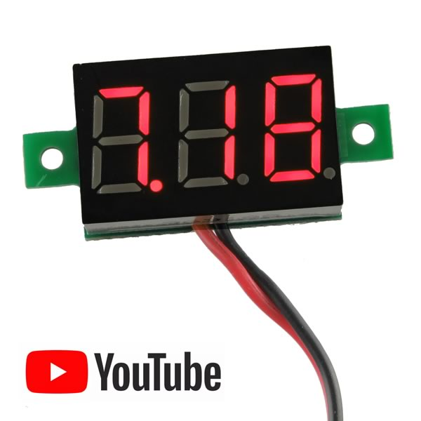 2.8V to 30V 3 Digit Voltmeter