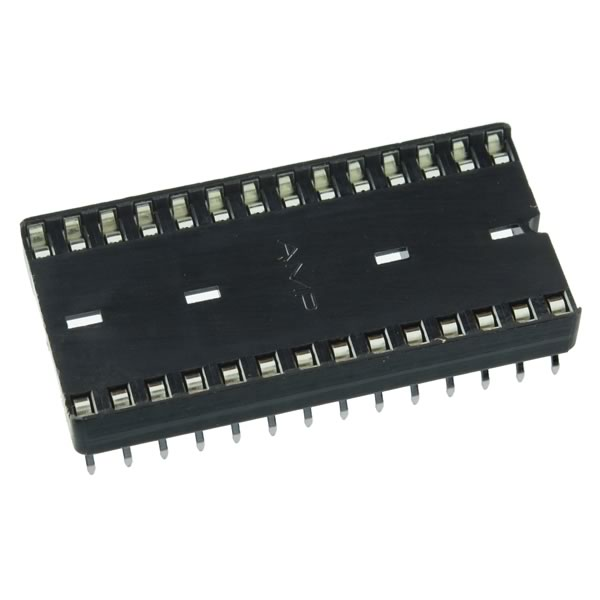 (Tube of 15) Low Profile 28 Pin DIP Socket