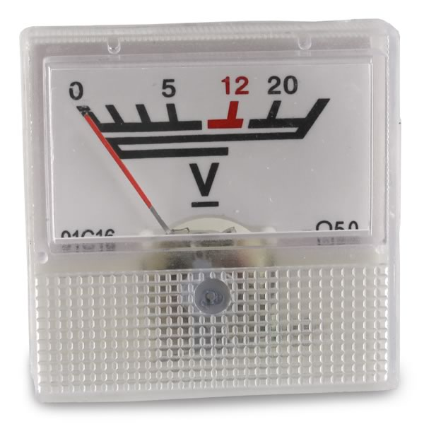 Inexpensive 0-20V Analog Voltage Panel Meter