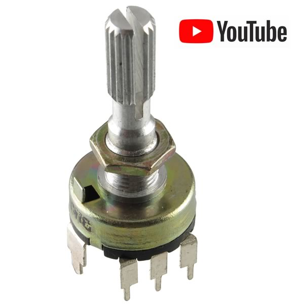 SALE - 17mm 1K Linear Taper Potentiometer with Switch