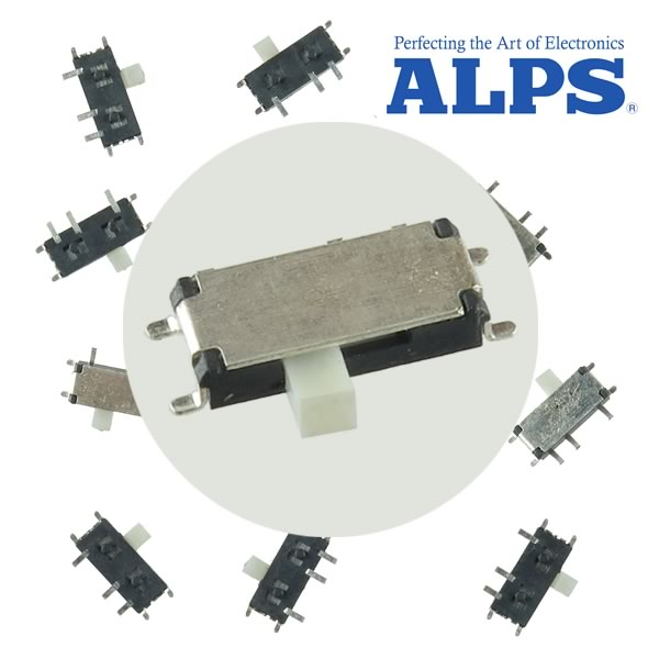 (Pkg 10) Alps 5558 Series SMD SPDT Slide Switch