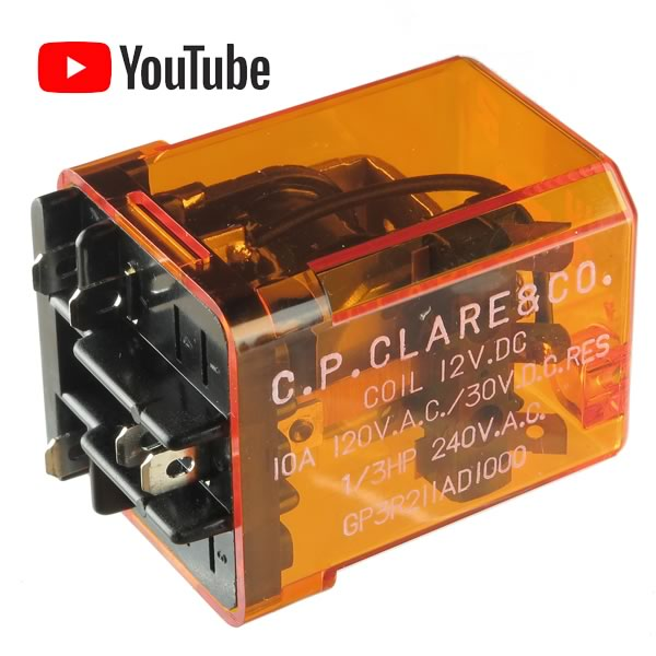 Electronic Goldmine G23089 C P  Clare 12VDC SPDT 10Amp Relay GP3R211AD1000