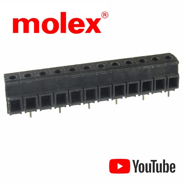SALE - Heavy Duty Molex/Beau® Eurostyle 12 Terminal Wire Connector Block for PCB