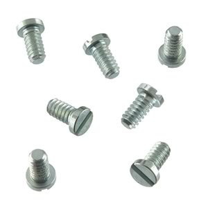 (Pkg 100) Flat Head Zinc Plated Steel 1/4