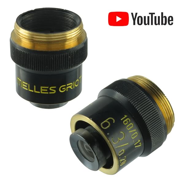 Melles Griot Lab Magnifying Lens Microscope 6X Objective Lens
